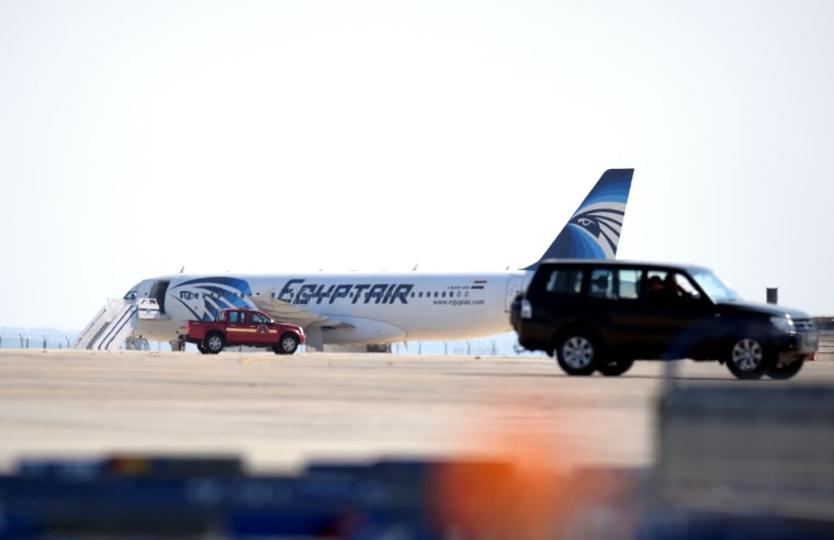 Image: The plane sits on the tarmac