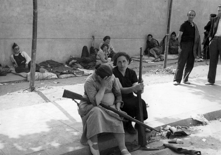 Women were among the Republican combatants during the Spanish Civil War.