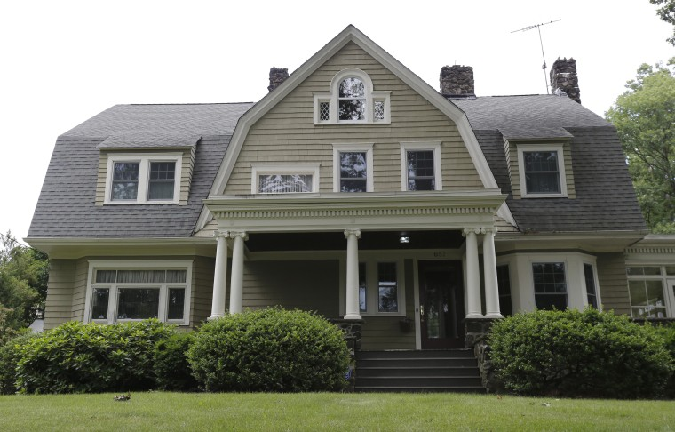 """This Westfield, N.J. home supposedly stalked by an anonymous creepy-letter writer who goes by """"The Watcher"""" is back on the market."""