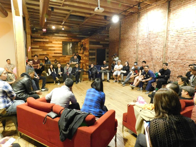 A March meeting of We Own The 8th, an Asian-American arts collective, at The Good Company in Los Angeles.