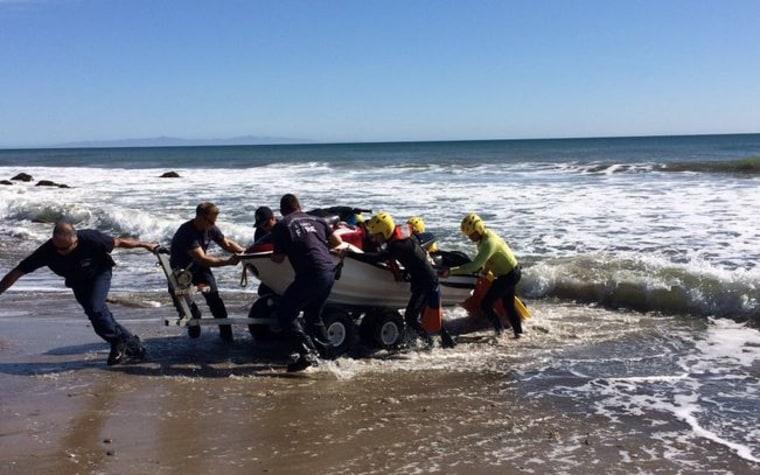 IMAGE: Kite surfer rescue