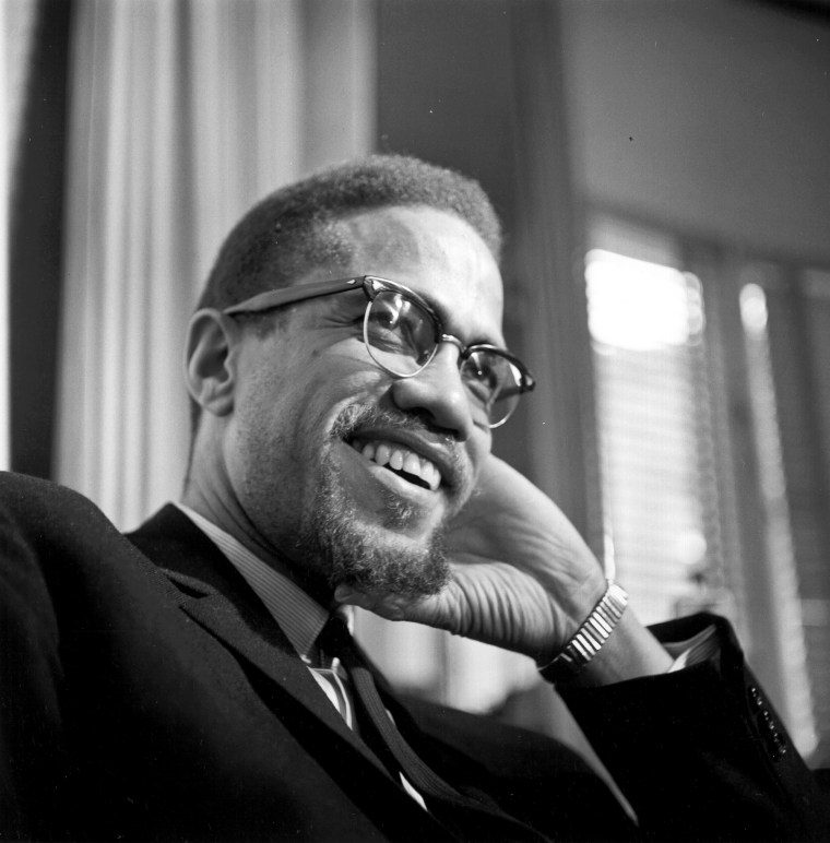 Former Nation Of Islam leader and civil rights activist Malcolm X poses for a portrait on February 16, 1965, in Rochester, New York.
