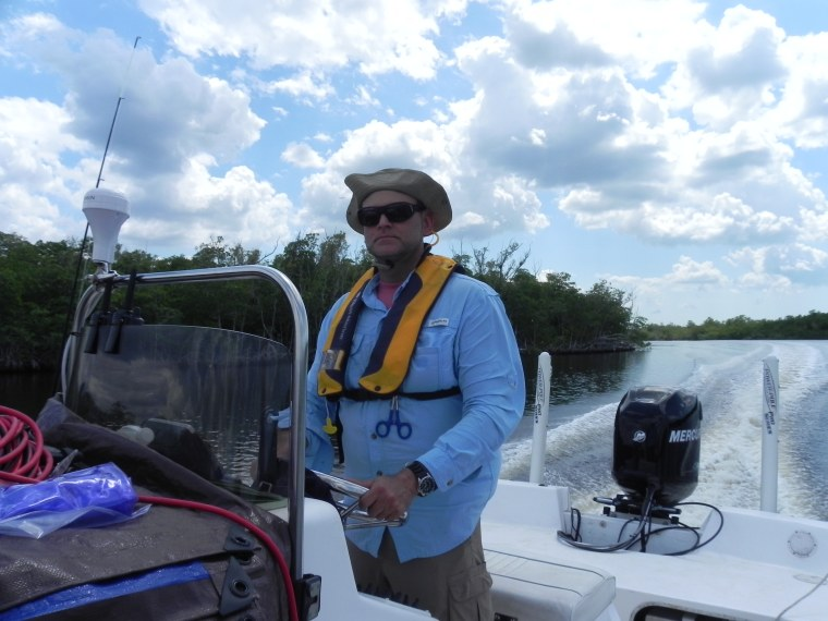 Dr. Carlos Del Castillo studying the Florida Everglades tracking the carbon cycle.