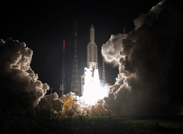 Image: Ariane 5 launch with Eutelsat 65 West A relay satellite