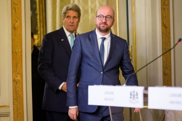 Image: John Kerry and Charles Michel