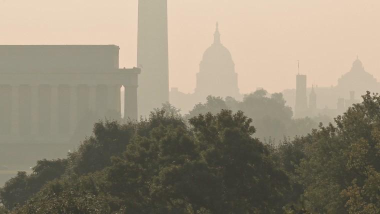 Washington D.C. skyline.