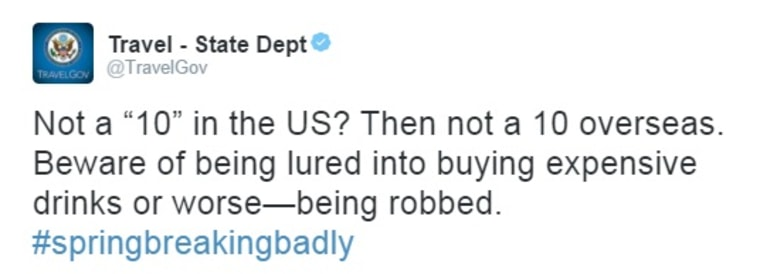 IMAGE: Deleted State Department tweet