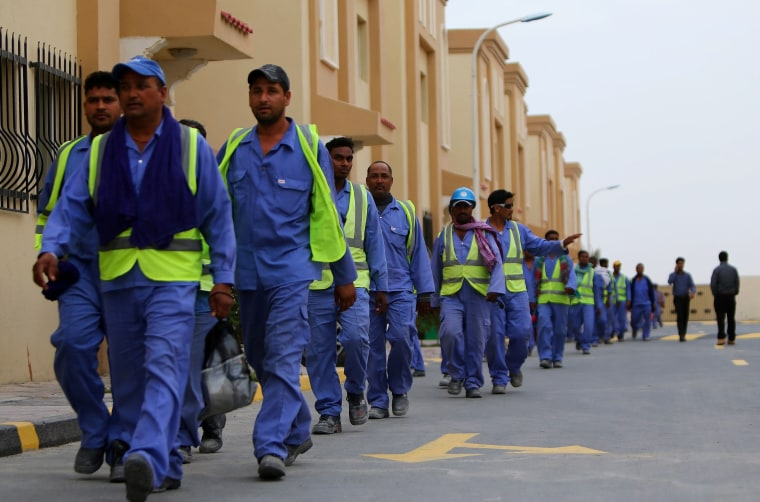 Image: Migrant workers in Qatar