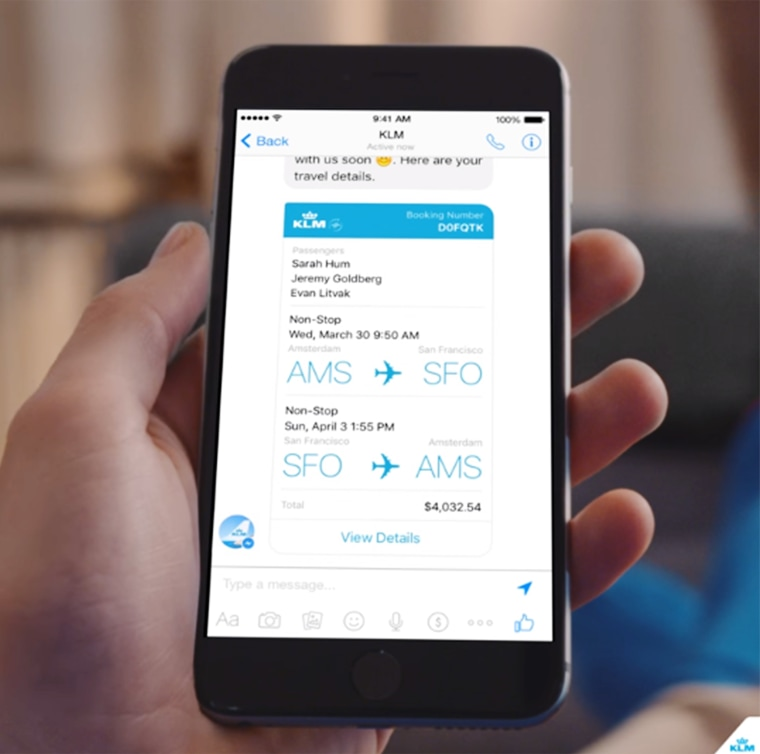 KLM on Messenger