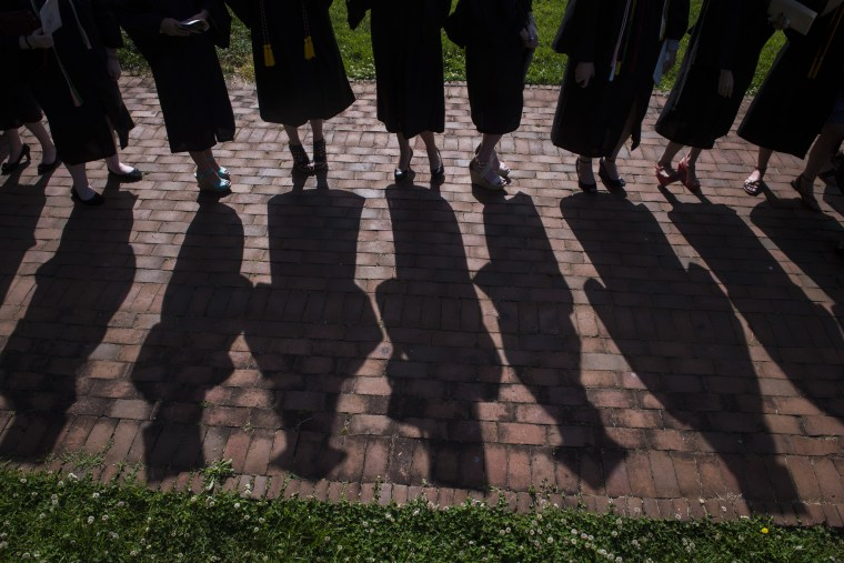 The final commencement ceremony at Sweet Briar College, a women's liberal arts college in southwest Virgina. The school is closing this summer due to funding shortfall.