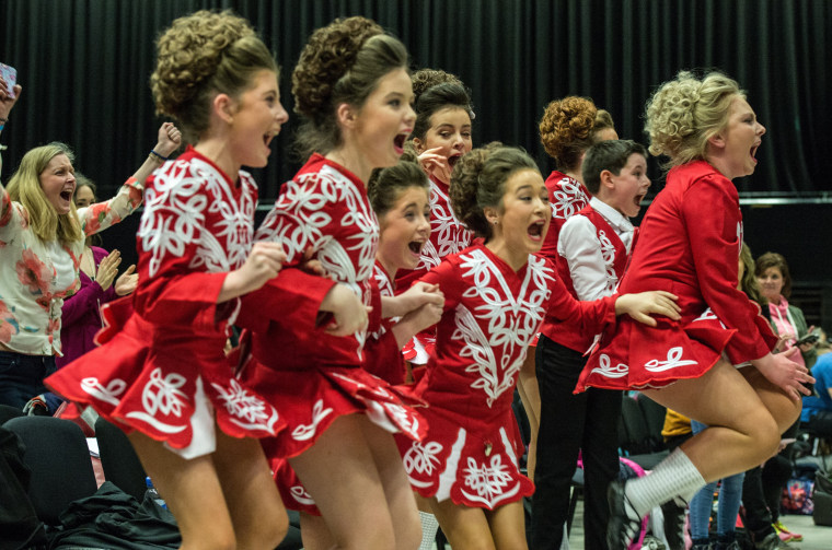 Image: *** BESTPIX *** Dancers Compete In The World And European Irish Dancing Championships