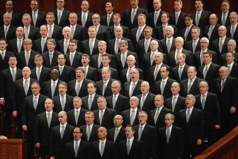 Image: Mormon church conference