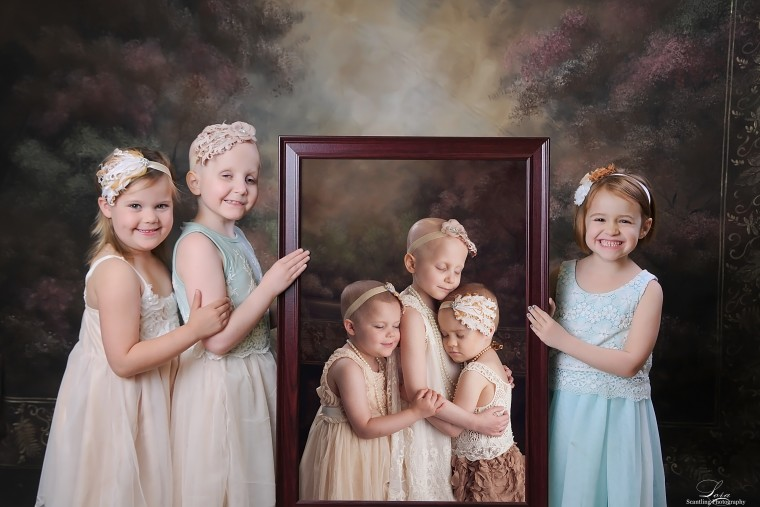 Image of Rylie, Rheann and Ainsley, three young cancer survivors
