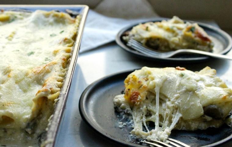 Four Cheese Wild Mushroom Lasagna