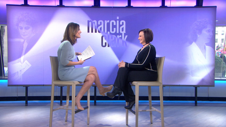 Savannah Guthrie interviews Marcia Clark Tuesday morning on TODAY.
