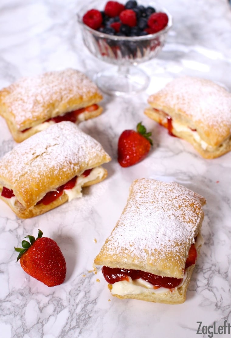 Strawberry Cheesecake Puffs by TODAY Food Club member Joanie Zisk