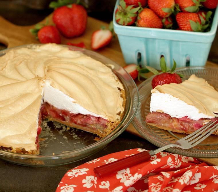Strawberry Rhubarb Meringue Pie by TODAY Food Club member Bethany Herwegh