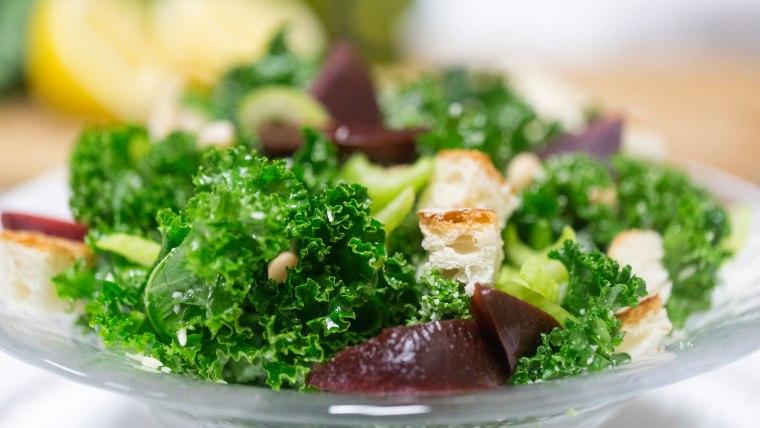 Deliciously simple kale salad