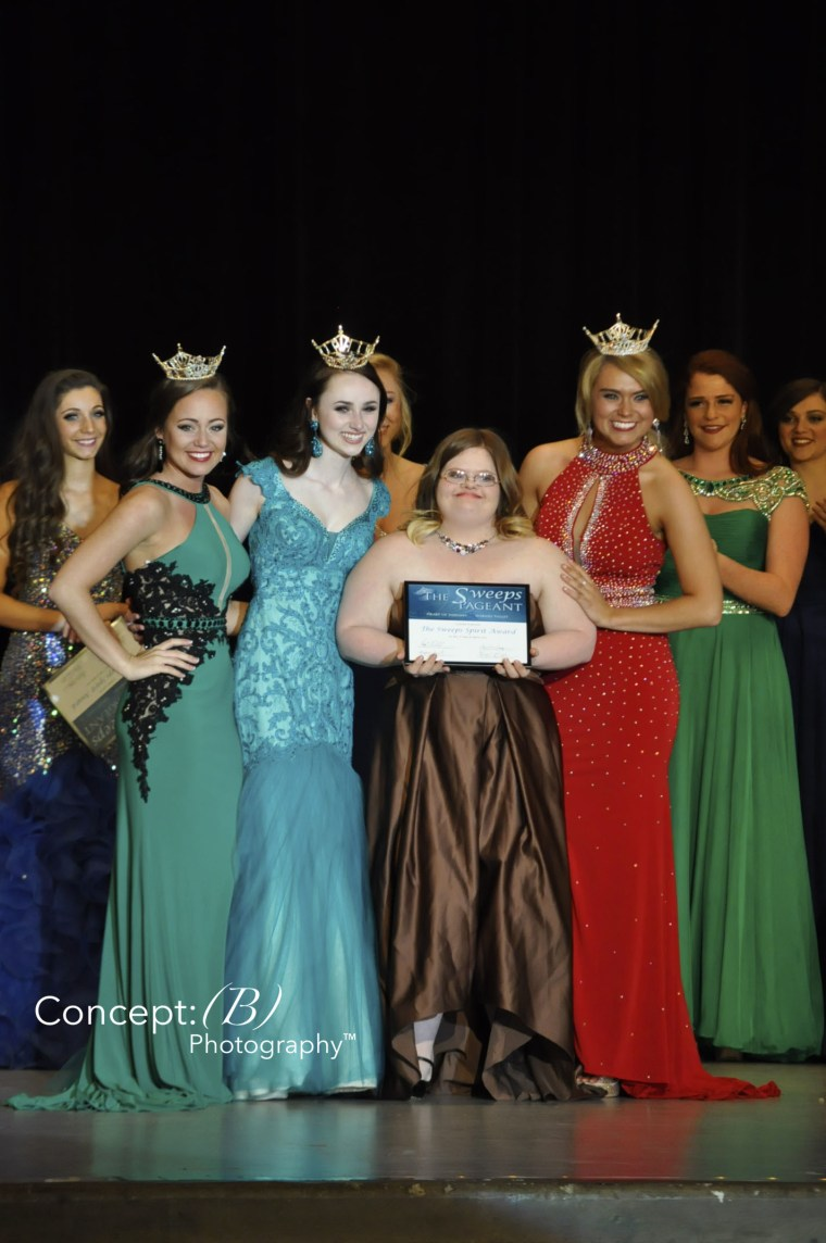 Mickey competes in Sweeps Pageant in 2016