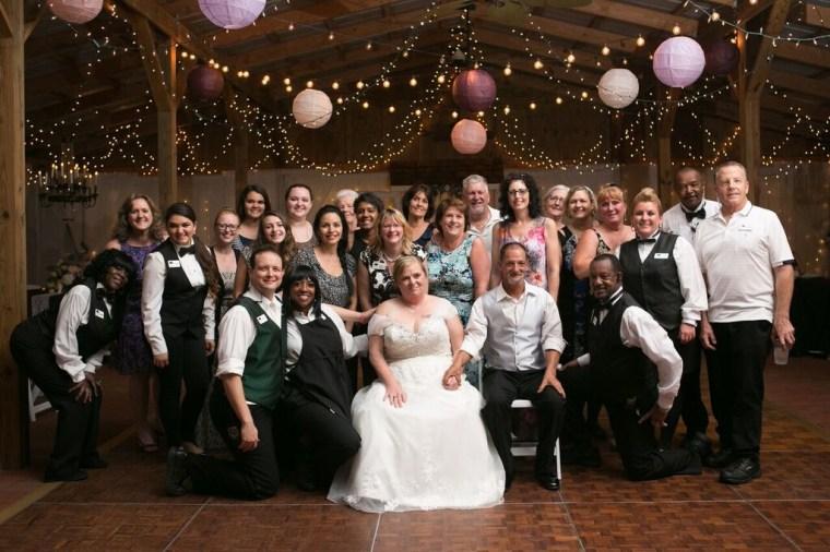Evelyn and Rocky Barlett got their dream wedding