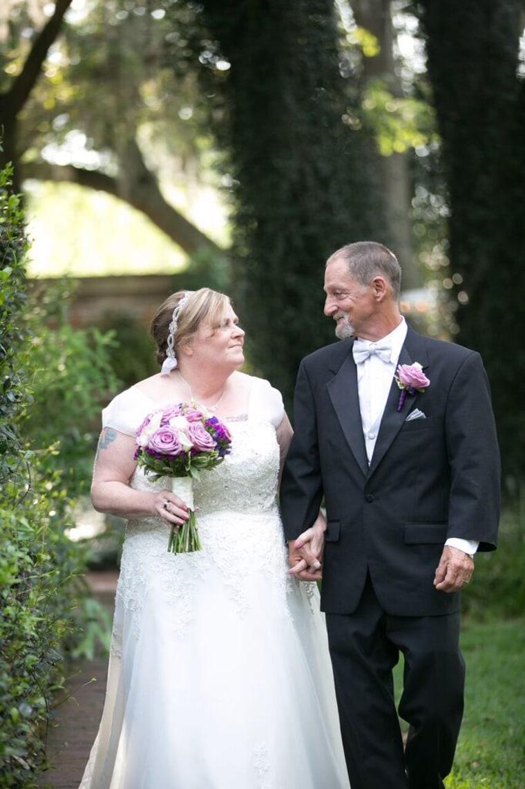 Rocky and Evelyn Barlett got their dream wedding
