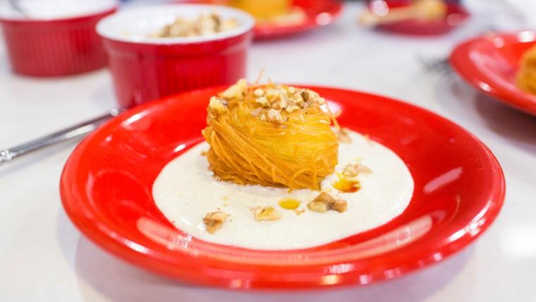 Duff Goldman whips up a delicious fried pasta dessert called Pasta Fritta alla Siciliana