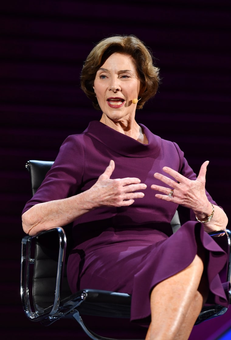 Laura Bush at the 2016 Women In The World Summit, NYC, New York;
