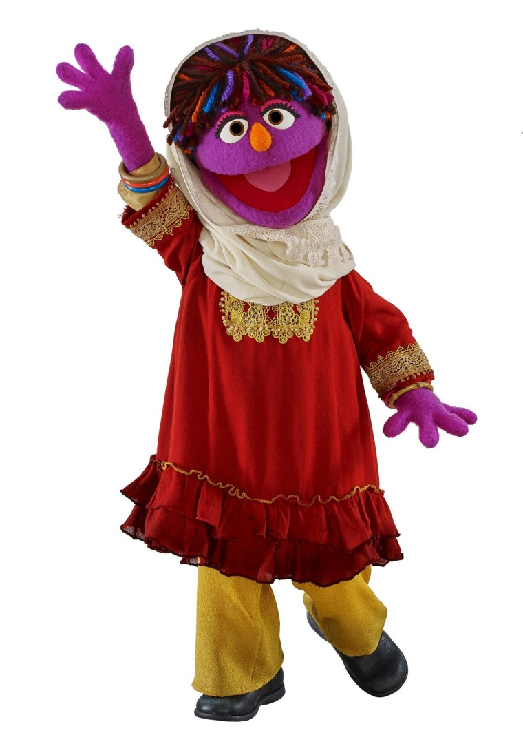 """Zari is the newest Muppet to join """"Sesame Street"""""""