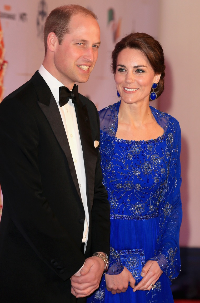 Catherine, Duchess of Cambridge and Prince William, Duke of Cambridge arrive for a Bollywood Inspired Charity Gala at the Taj Mahal Palace Hotel in Mumbai.