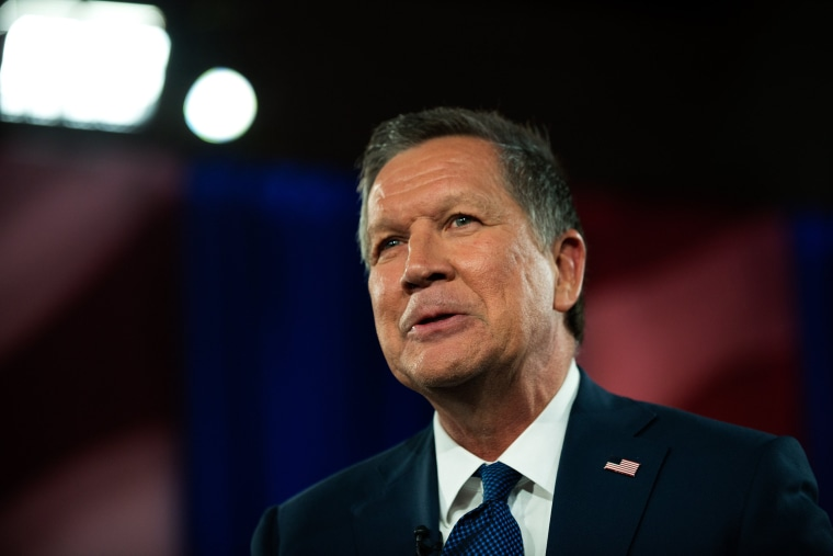 Image: GOP Presidential Candidate John Kasich Participates In Television Town Hall Meeting