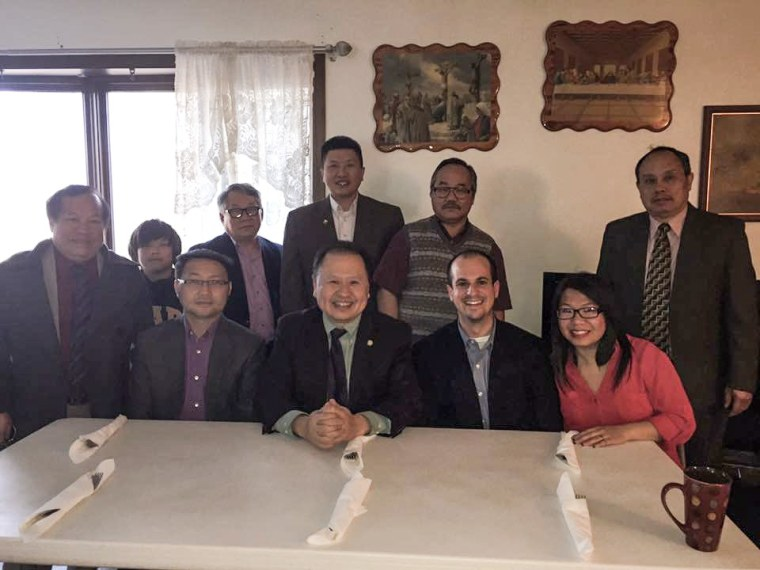 Wisconsin State Assemblyman Jonathan Brostoff at a family dinner with his in-laws, the Vangs