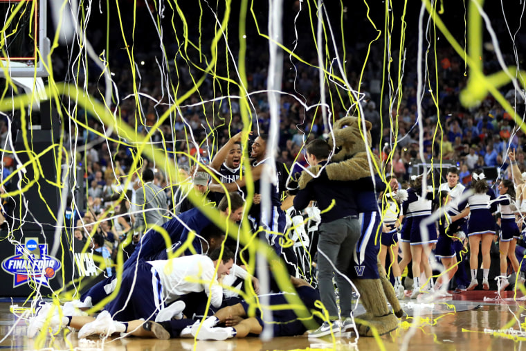 Image: The Wildcats celebrate their win