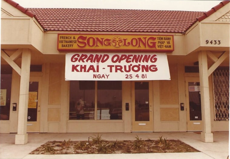 Song Long Restaurant during its grand opening in 1981.