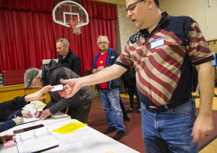Image: Wisconsin Voters Take Part In State's Primary