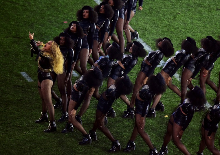 Beyoncé performs during the Pepsi Super Bowl 50 Halftime Show at Levi's Stadium on February 7, 2016 in Santa Clara, California.