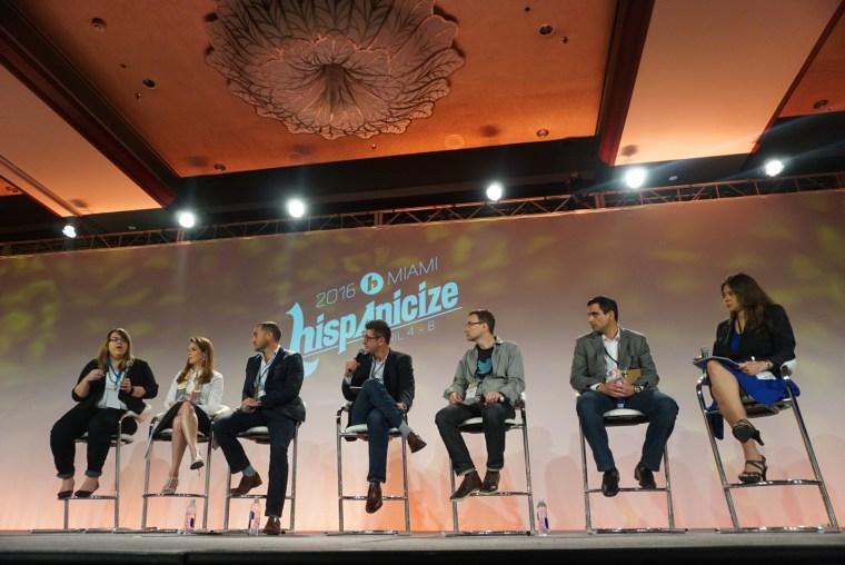 The panelists at the U.S. Hispanic Digital Industry Town Hall