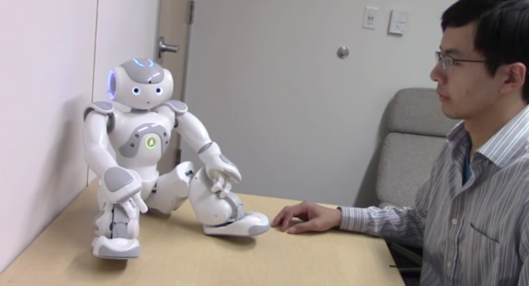 Image: touch robot can elicit physiological arousal in humans