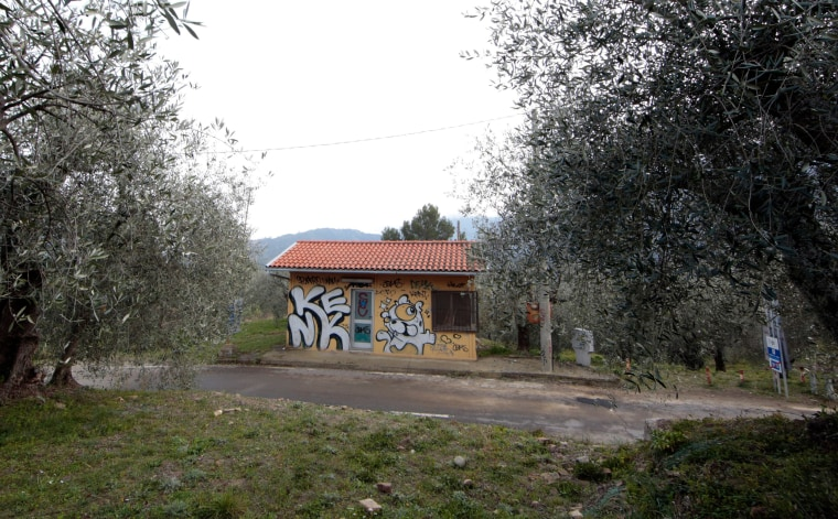 Image: A closed and abandoned border checkpoint at the French-Italian border in Olivetta