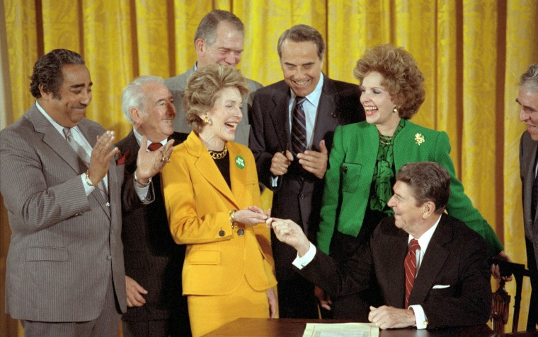 Mr. and Mrs. Ronald Reagan with Political Leaders