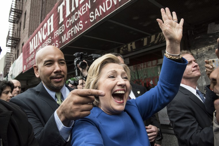 Image: BESTPIX - Democratic Presidential Candidate Hillary Clinton Campaigns In New York City