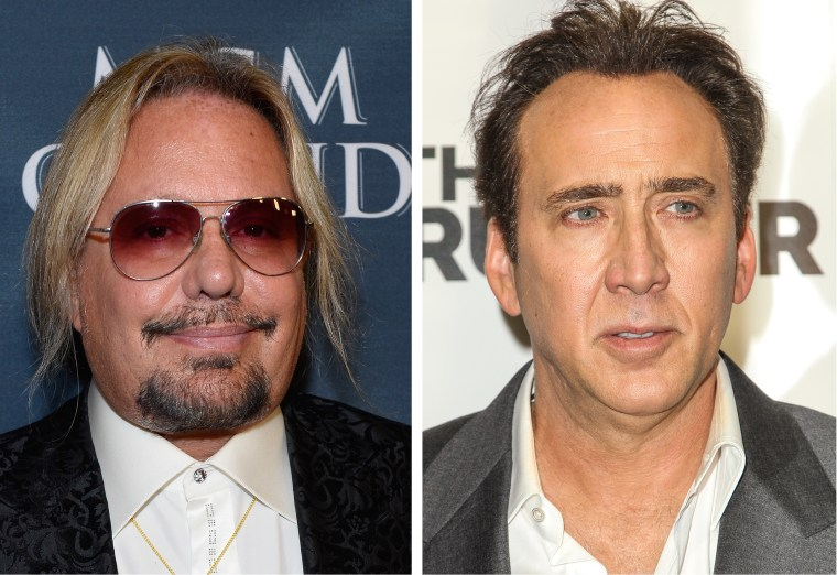 Vince Neil and Nicolas Cage