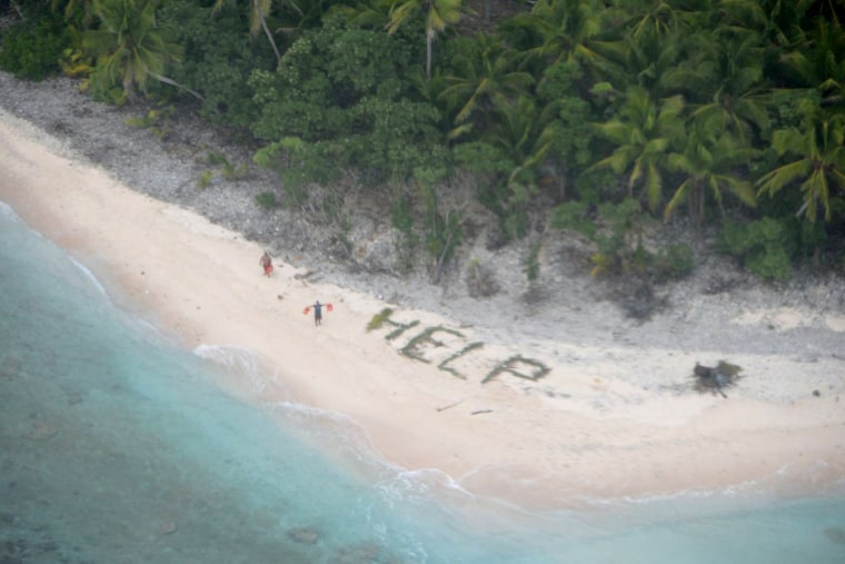Shipwrecked Trio Saved After Spelling Out 'Help' on Beach