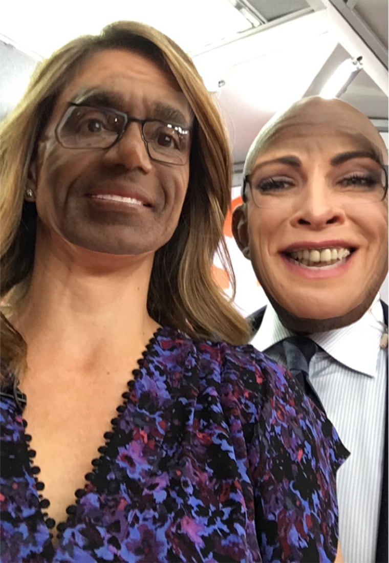 Al Roker and Natalie Morales FaceSwap on TODAY