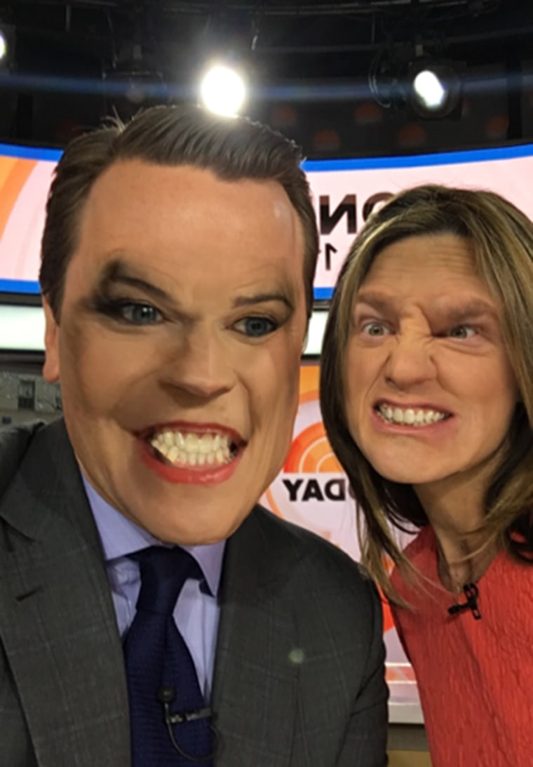 Willie Geist and Savannah Guthrie FaceSwap on TODAY
