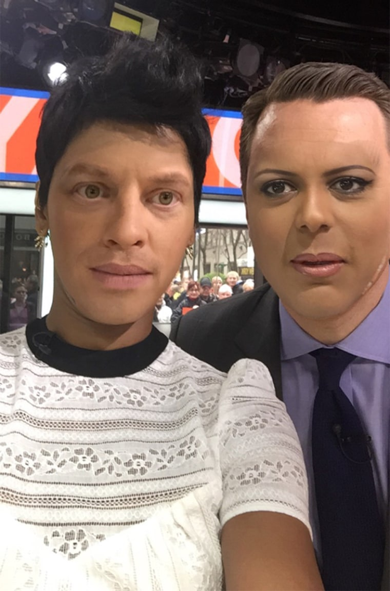 Willie Geist and Tamron Hall FaceSwap on TODAY