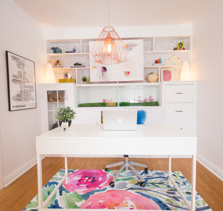 See this office go from 'so boring' to so beautiful after a DIY makeover