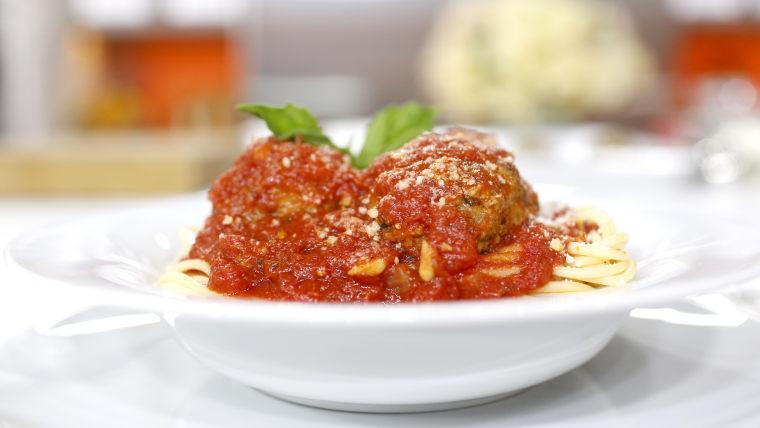 Mike Maroni's recipe for classic spaghetti and meatballs