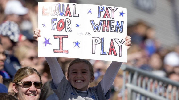 Girl wants equal pay