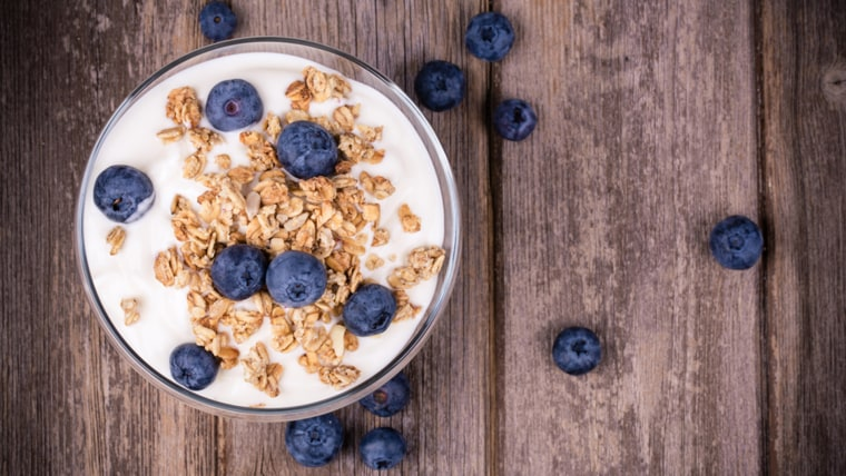 Coconut Yogurt with Blueberries and Granola