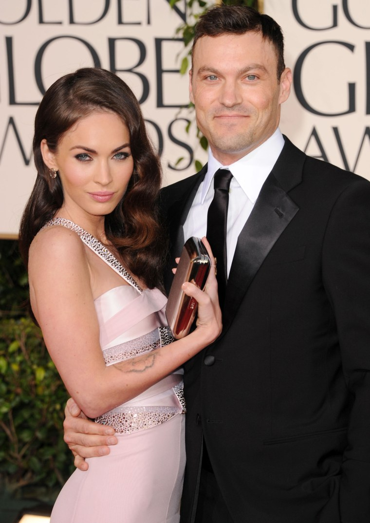 Megan Fox and Brian Austin Green at Golden Globes